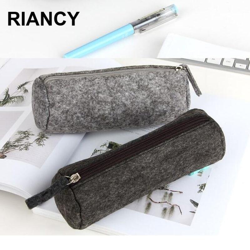 School Pencil Case Of Felt Pencil Bag Etui A Crayons Cuir Pencil Pouch Tasche Pen Case School Bag Plumier Scolaire пенал 04