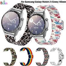 Correa de nailon para reloj inteligente Samsung Galaxy, correa de nailon de 20 a 22MM para reloj inteligente Samsung Galaxy 3 de 45mm y 41mm /Amazfit GTS GTR 2e