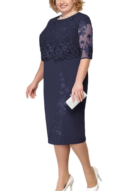 Lace-Plus-Size-Mother-Of-The-Bride-Dresses-2019-Scoop-Neck-Hal-Sleeve-Patchwork-Wedding-Guest.jpg_640x640 (2)