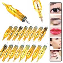 R/RM/MI/RS Tattoo Needles 20pcs/box Revolution Cartridge Round Liner for Microblading Machine Permanent Makeup