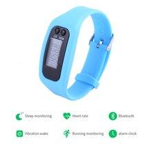 цена на LCD Smart Wrist Watch Bracelet Pedometer Sports Monitor Running Exercising Step Counter Fitness Silicone Wristband Smartband