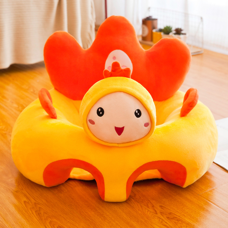 Hot Explosion Baby Learning Seat Creative Infant Anti-fall Sofa Seat Cartoon Plush Comfortable Soft Toy Baby Learning Seat