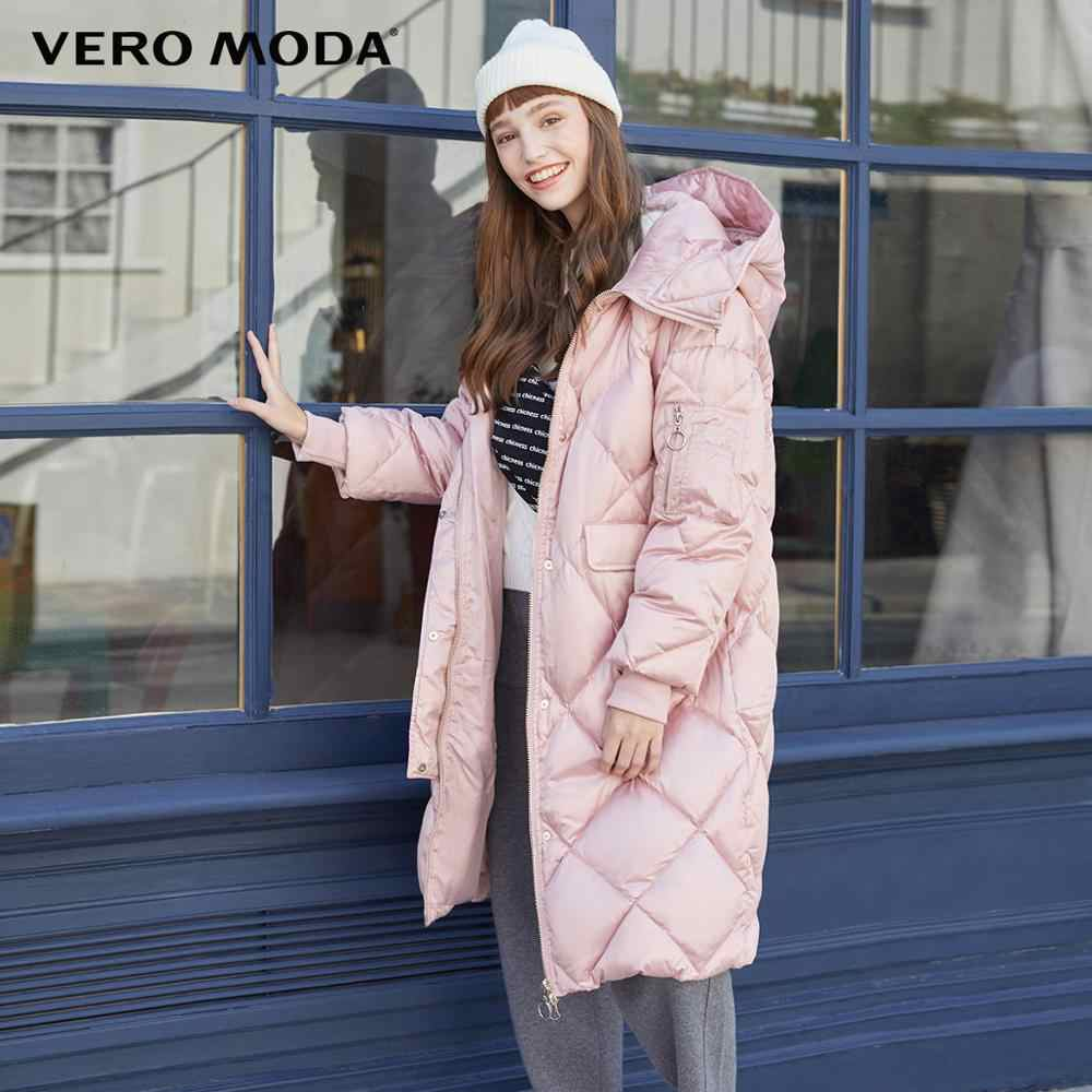 Vero Moda Nieuwe Vrouwen Lange Glossy Stof Zakken Hooded Donsjack   319412521