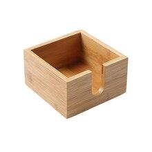 Бытовой экологически безопасный бумажный держатель бамбуковая салфетка чехол диспенсер Домашний Органайзер коробка для салфеток столешница Кухня Офис
