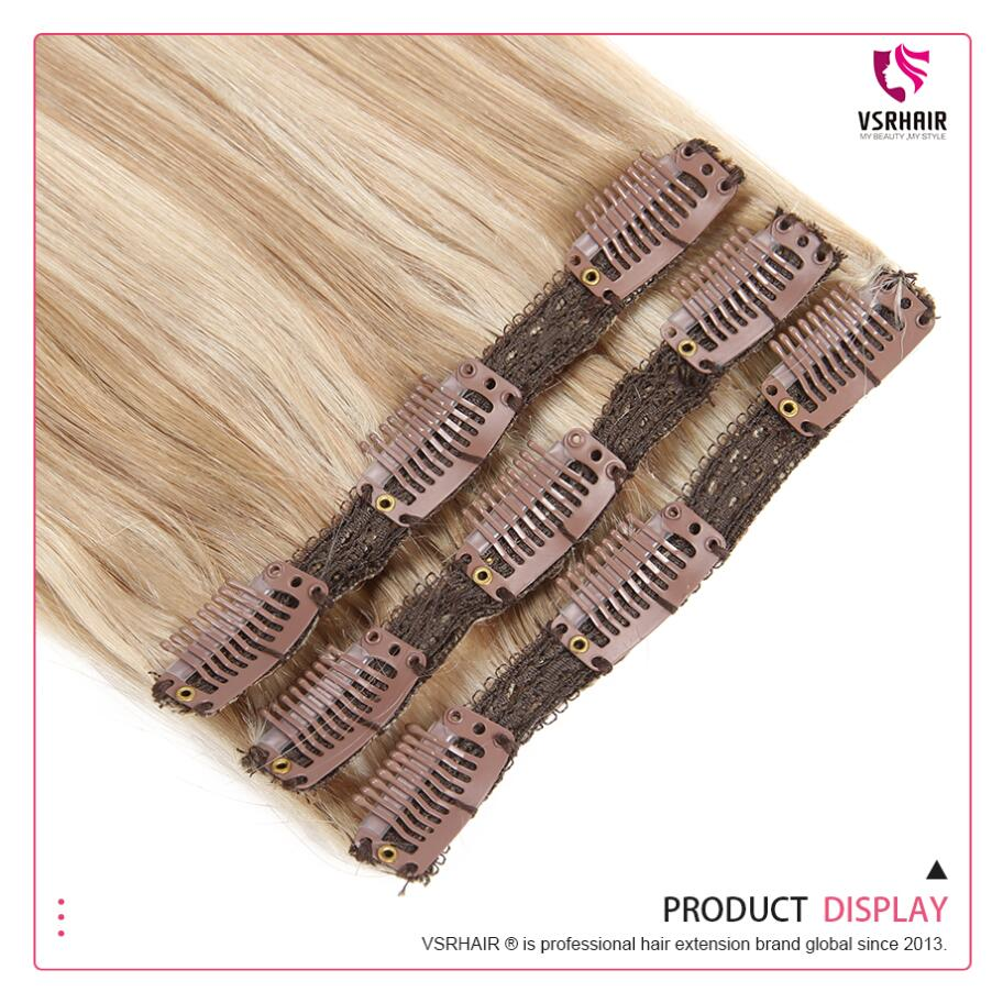 Image 5 - VSR Remy Extension Hair Human Clip In Hair Style 3pcs Machine Made Clip In Hair Extensions-in Clip-in Hair Extensions from Hair Extensions & Wigs