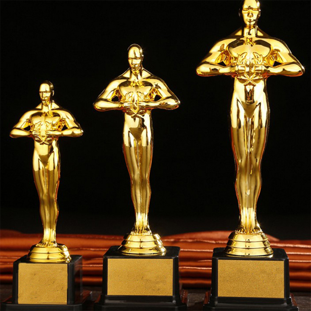 Custom Oscar Trophy Gold-plated Small Gold Statue Team Sports Competition Craft Souvenir Party Celebration Gift 19/22/26cm