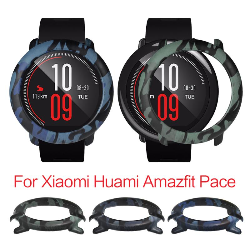 Protective Cover Frame For Xiaomi Huami Amazfit Pace Replacement Watch PC Camo Protector Case Watch Accessories