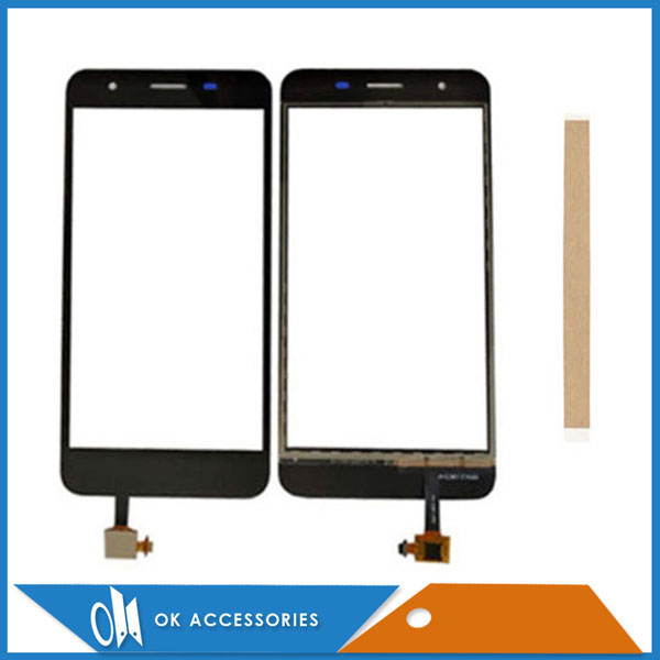 For Micromax Q465 Canvas Juice 4 Touch Glass Touch Screen Sensor Panel Digitizer Black Color With Tape 1PC/Lot