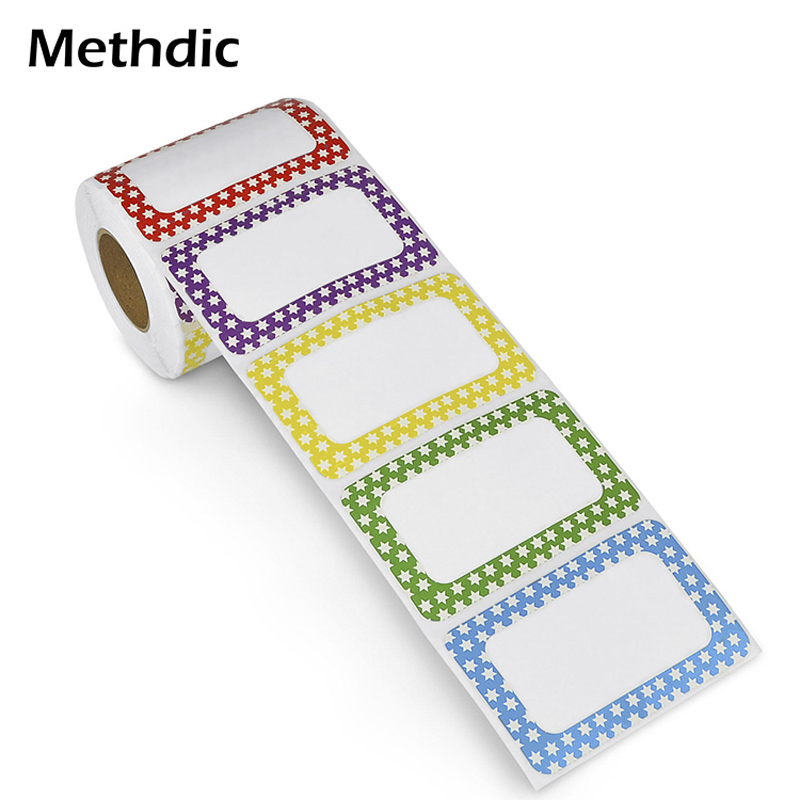 250pcs Adhesive Name Tags Labels Stickers Roll For Cloth Office And School