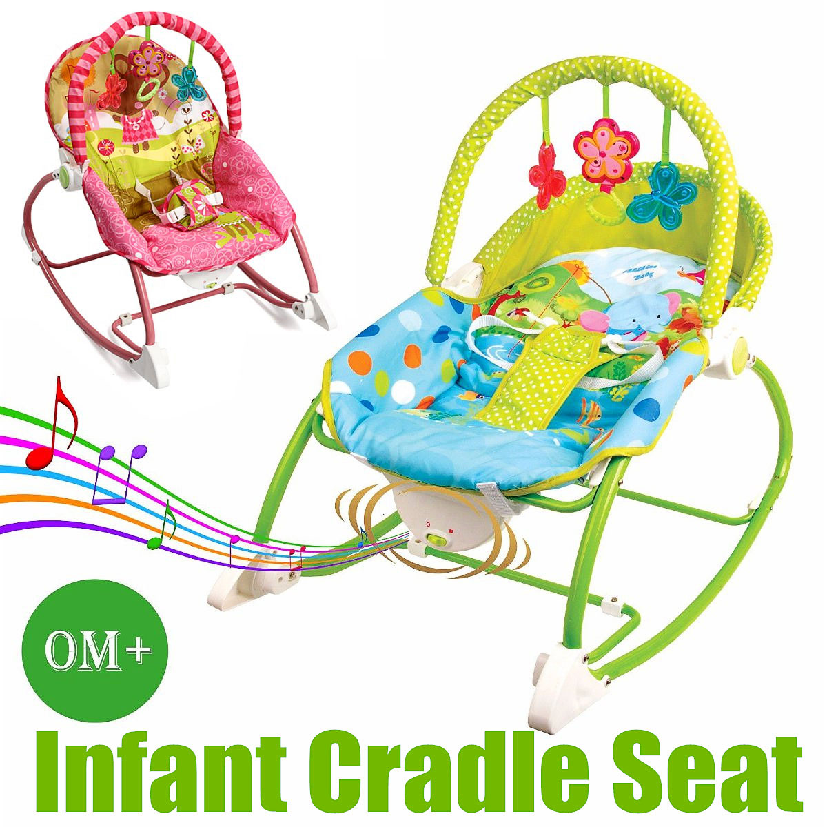 Eletric Rocking Chair With Music Infant Rocker Bouncer Cradle Seat Newborn Toddler Swing Vibration Toy Baby Cradle Swing Reborn