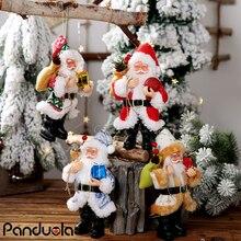 20 سنتيمتر دمية سانتا كلوز لعبة شجرة عيد الميلاد قلادة الحلي عيد الميلاد هدية ديكور المنزل DIY بها بنفسك حفلة عيد ميلاد الجدول زينة
