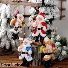 Muñeco de Papá Noel de 20cm, adornos colgantes para árbol de Navidad de juguete, regalo de Navidad, decoración para el hogar, decoraciones para mesa de cumpleaños