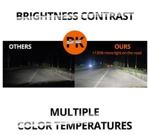 Image 3 - רכב אור H4 H7 אוטומטי הלוגן מנורות הנורה ערפל אורות 100W 3000K 4300K 6000K 12V motercycle רכב הלוגן הנורה אמפולה Voiture