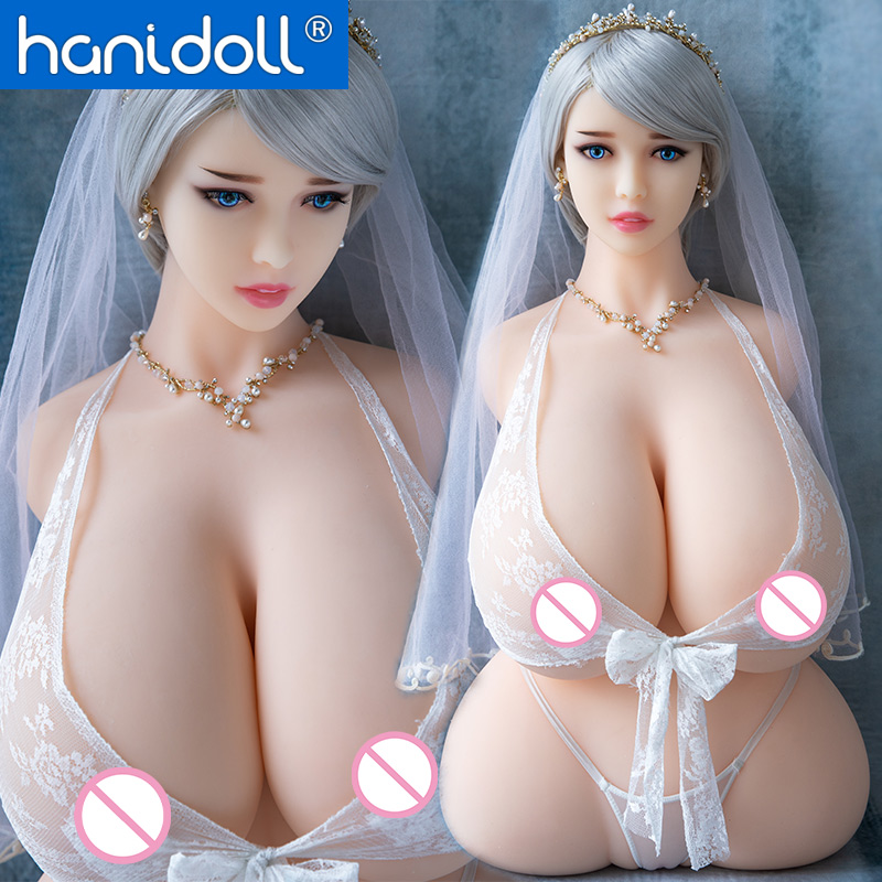 Hanidoll Silicone Sex Dolls 86cm Half Body Love Doll TPE Male Sex Doll Torso Realistic Vagina Big Boobs Fat Ass Chubby Sexy Doll