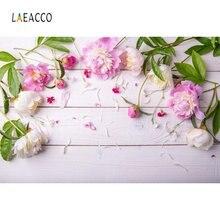 Laeacco деревянная доска фотография фоны Цветы Листья Фото дети