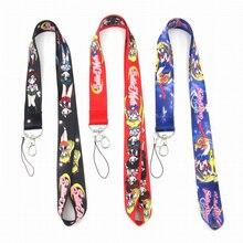 Anime Nette Cartoon Neck Strap Lanyard fur schlussel ID Karte Gym Handy Straps USB abzeichen halter DIY Hangen seil