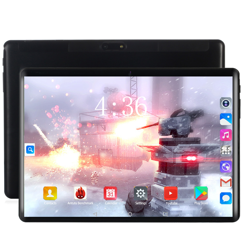 Newest 10 Inch Tablet Android 8.0 Ten Core 6GB RAM 128GB ROM 3G/4G LTE WiFi Bluetooth 4G Phone Call 2.5D Glass Screen Tablets Pc