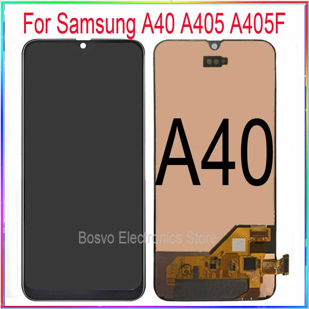 for <font><b>samsung</b></font> <font><b>A40</b></font> <font><b>LCD</b></font> Screen Display with Touch Digitizer with Frame Assembly Repacement Repair Parts A405 A405F A405FN/D A405DS image