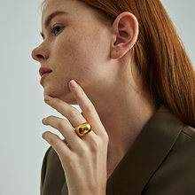 Удивительная Титан geo с однотонным большим кольцо Для женщин