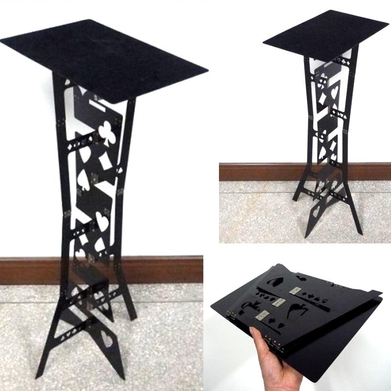 Aluminum Magic Folding Table (Alloy,Black Color) Magicians Best Table Stage Close Up Illusions Gimmick Accessories Magic Tricks