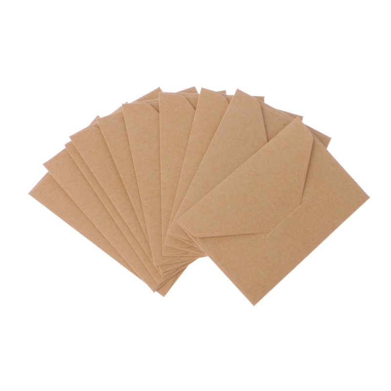50 Pcs/lot White/Black/Brown Craft Paper Envelopes Vintage European Style Envelope For Card Scrapbooking Gift  Whosale&Dropship