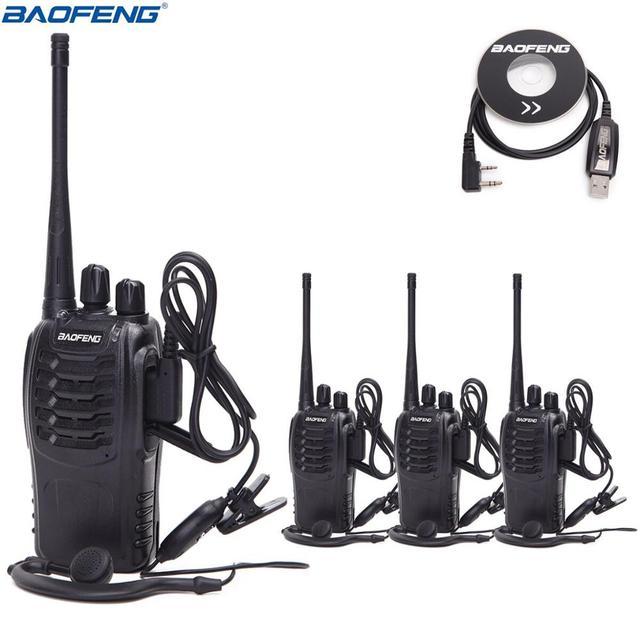 Bộ Đàm Baofeng BF 888S Bộ Đàm UHF 2 Chiều Đài Phát Thanh BF888S Cầm Tay 888S Comunicador Phát Thu Phát + 4 Tai Nghe