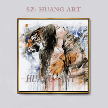 Modern hand-painted oil painting knife painting figures sexy wall decoration painting canvas hall hotel in the wall of the sitti