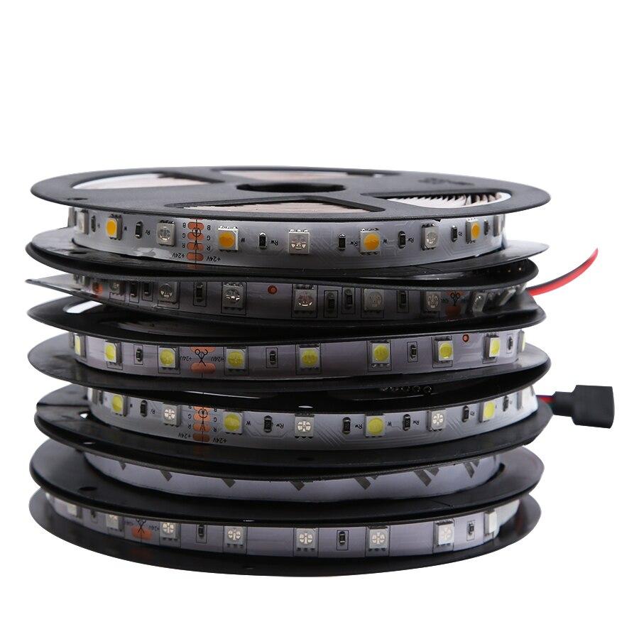 Светодиодная лента, светильник 5050 24 в RGB RGBW RGBWW 24 В 5 м, водонепроницаемая гибкая 60 светодиодов/м, Светодиодная лента RGBW 24 В RGBWW, ленточный свети...