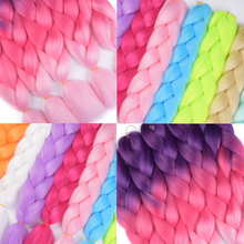 MERISIHAIR Pink Purple Blue Blonde Color Synthetic Jumbo Braids Ombre Braiding