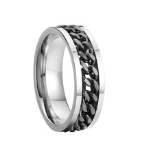 pure titanium steel wedding rings promise rings anel men free shipping women jewellery J018B(China)