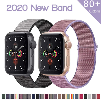 soft silicone loop strap for apple watch band 5 4 44mm 40mm bracelet wristband for iwatch series 5 4 3 2 1 42mm 38mm accessories Nylon Strap for Apple Watch series 6 SE 5 4 Band 44mm 40mm 42mm 38mm Sport Loop Soft Wristband Bracelet iWatch Series 3 2 1