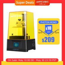 ANYCUBIC Photon Mono 3D drukarka UV żywicy drukarki z 6 cal 2K monochromatyczny ekran LCD i szybka prędkość druku: 130x80x165mm