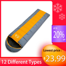 Wind Tour Autumn Winter Envelope Hooded Outdoor Travel Camping Water proof Thick 1.3kg Sleeping Bag Thermal Adult Bed Lazy Bag