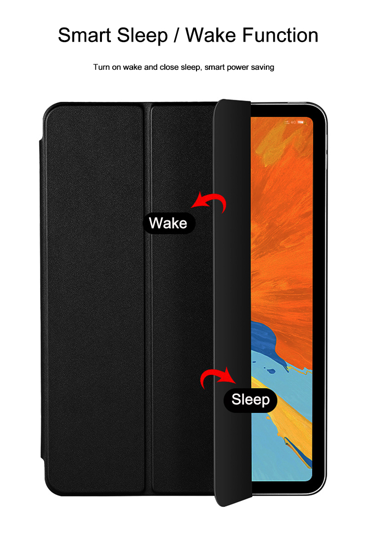Air Stand 2020 Cover 10.9 Auto Leather Wake Flip Case PU iPad For Full Smart Trifold