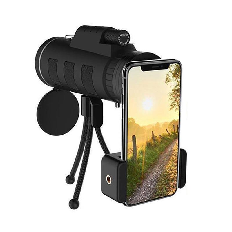 suporte de smartphone, adequado para caminhadas e campismo telescopio