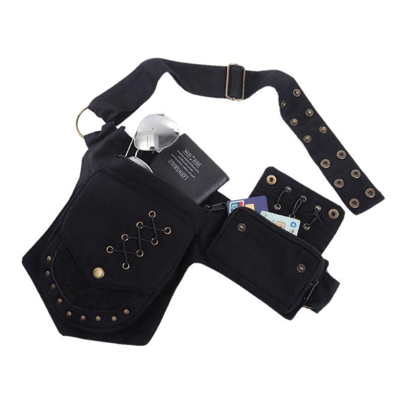 Man Practical Fanny Pack Waist Bag Hip Phone Pouch Travel Utility Travel Belt Organizer