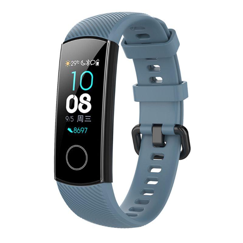 Против царапин мягкий силиконовый ремешок для часов спортивный ремешок Замена для huawei Honor 5/4 спортивный браслет аксессуары L41E - Цвет: GY