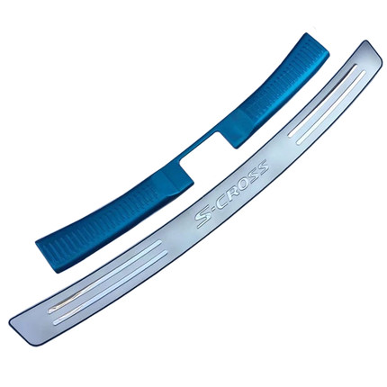 High quality for <font><b>Suzuki</b></font> for <font><b>Suzuki</b></font> <font><b>SX4</b></font> S Cross 2013-2019 Stainless Steel Rear bumper Protector Sill Auto parts Car styling image