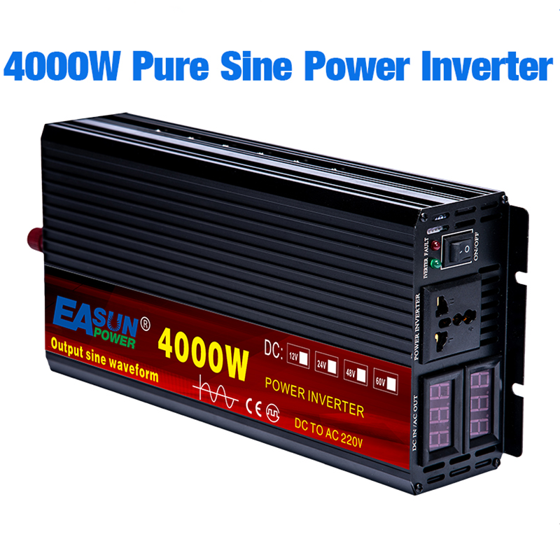 Sine-Wave-Inverter Converte Led-Display Power 4000W 110v 220v Dc 12v Pure 24v AC WITH