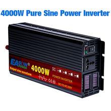 Inversor de onda senoidal pura dc 12v 24v ac 110v 220v potência 2000w 3000w 4000 inversor do carro converte com display led(China)