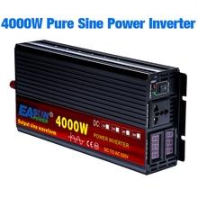 Onduleur à onde sinusoïdale pure 12/24 V DC, 110/220 V AC, 2000/3000/4000 W, convertisseur de voiture avec affichage LED