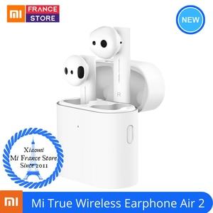 Image 1 - XIAOMI Airdots Pro Air 2 Mi 真のワイヤレスイヤホン空気 2 TWS Bluetooth 5.0 14H バッテリ寿命ミ愛音声制御 LHDC タップ制御