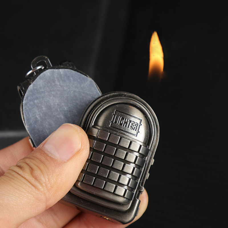 PUBG Third-class Backpack Gas LighterExotic Cigar Cigarettes Lighter Electronic Lighters Smoking Accessories Gadgets For Men