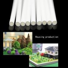 Wholesale Diy handmade construction  ABS Round pipe tube diameter 6mm length 50cm circular plastic tube, model-making