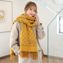 scarf 2019 winter new rabbit flannel wrap yarn women's double face tassel shawl Korean version of fashion versatile
