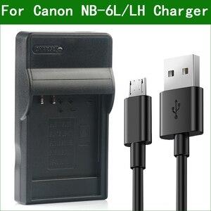 Image 1 - LANFULANG NB 6L / NB 6LH ملحوظة 6L ضئيلة المصغّر USB شاحن بطارية ل كانون PowerShot SX520 SX530 SX540 SX600 SX610 SX700 SX710 HS