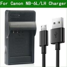 LANFULANG NB 6L / NB 6LH NB 6L Schlank Micro USB Batterie Ladegerät für Canon PowerShot SX520 SX530 SX540 SX600 SX610 SX700 SX710 HS