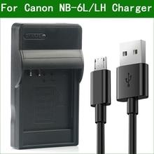 LANFULANG NB 6L / NB 6LH NB 6L Slim Micro USB Battery ChargerสำหรับCanon PowerShot SX520 SX530 SX540 SX600 SX610 SX700 SX710 HS