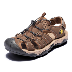 Image 3 - Fashion Men Beach Sandals size 39 46 Men Roman Style Sandals Summer Leather Shoes for Beach Outdoor Walking shoes male