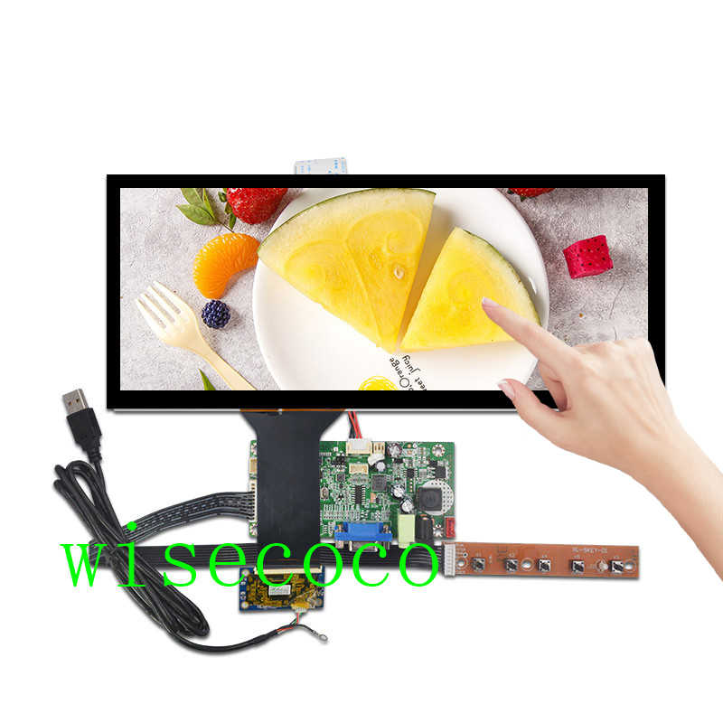 "12.3 ""inch 1920*720 IPS HSD123KPW1-A30 LCD capactive touch VGA HDMI driver controller board voor automotive display"